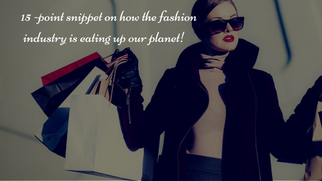 fashion industry eating the planet